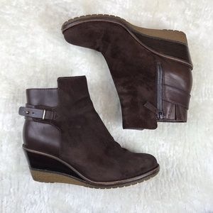 Cole Haan Rayna Suede Wedge Ankle Boot